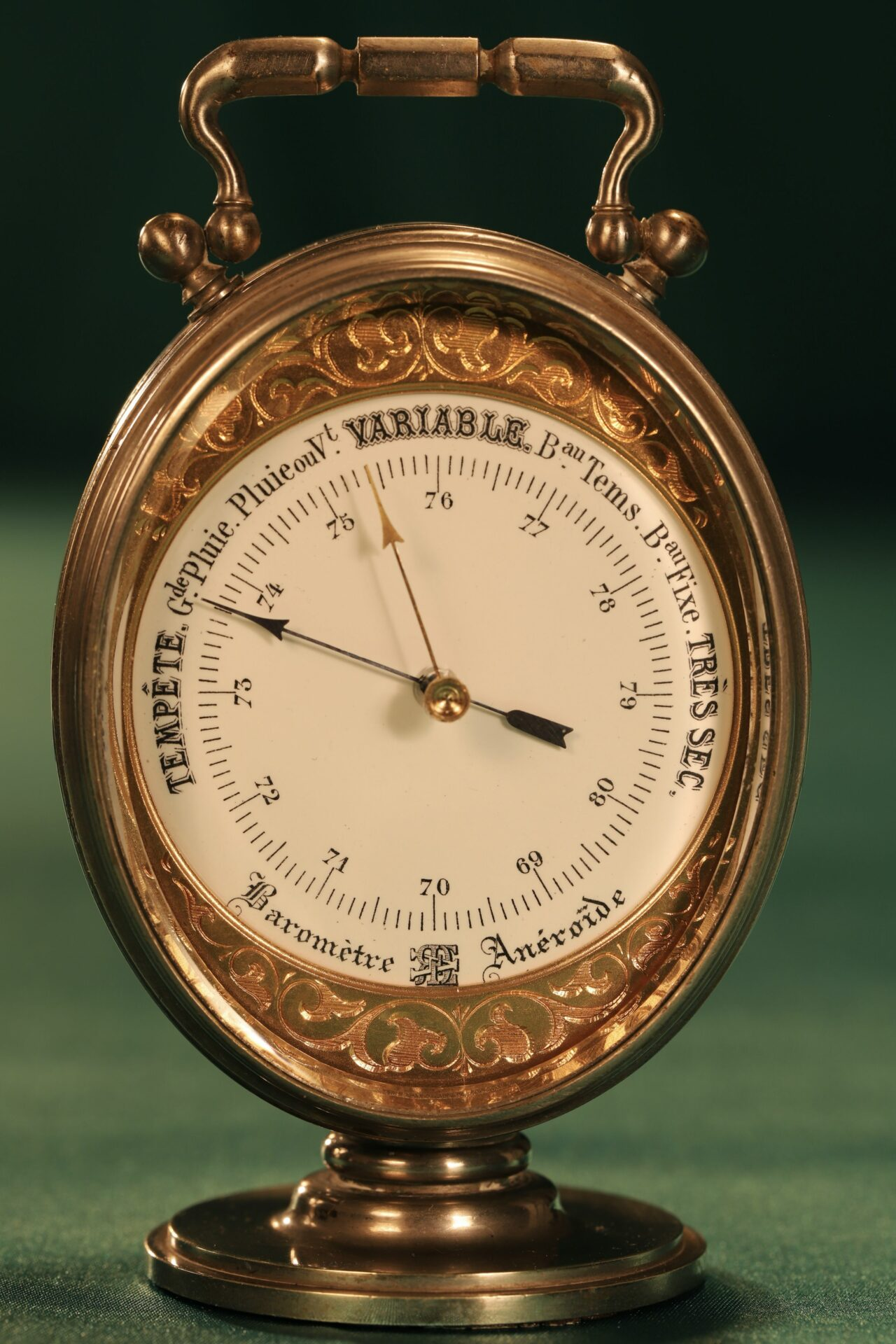 Image of Redier Travel Compendium showing the Barometer Side c1880