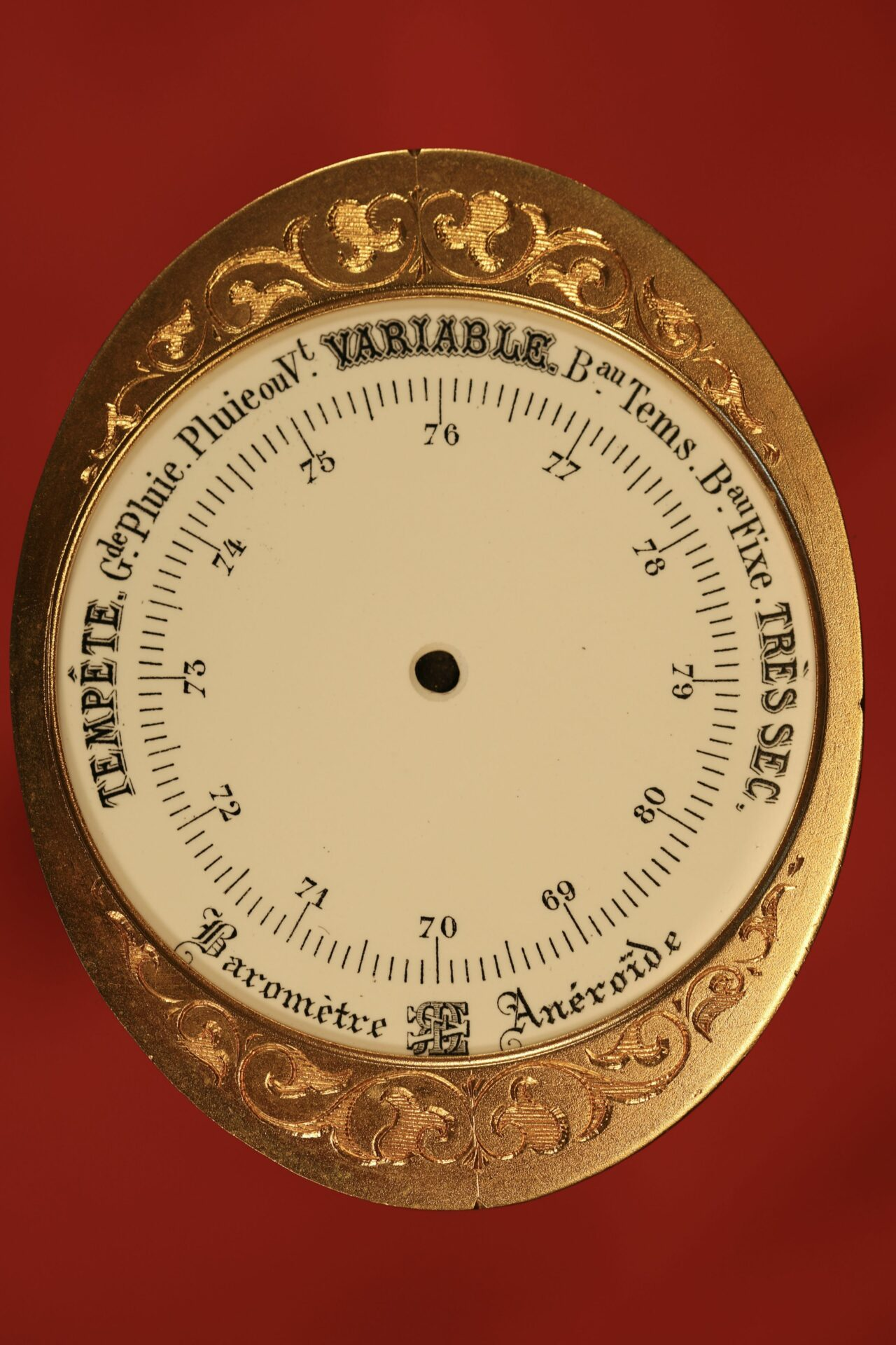 Image of Barometer Dial from Redier Travel Compendium c1880