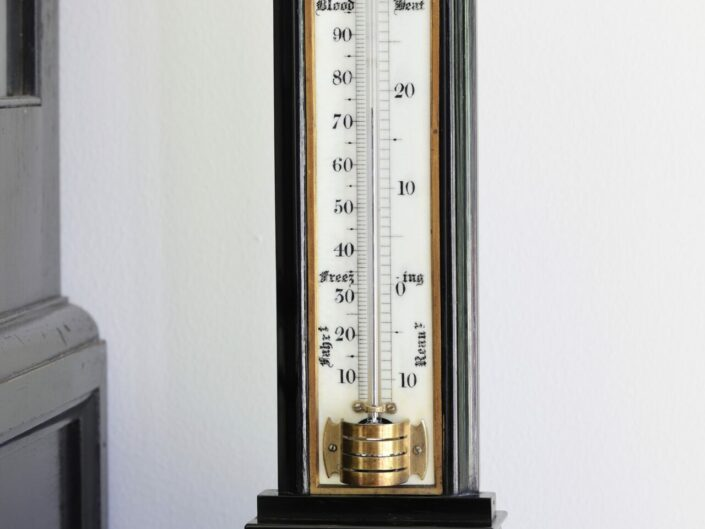 VICTORIAN THERMOMETER IN EBONY CASE BY WILLIAM DIXEY c1870