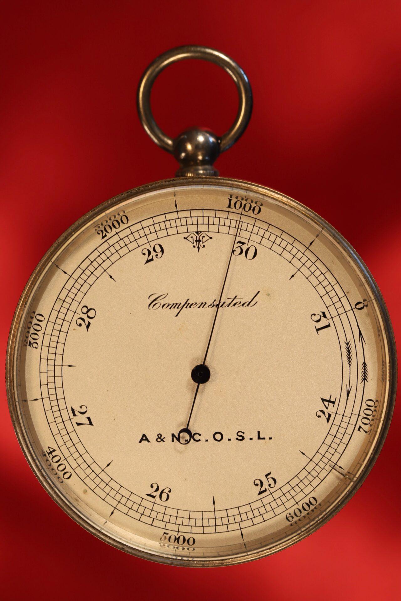 Image of Army & Navy COSL Pocket Barometer Compendium c1880 showing pocket barometer