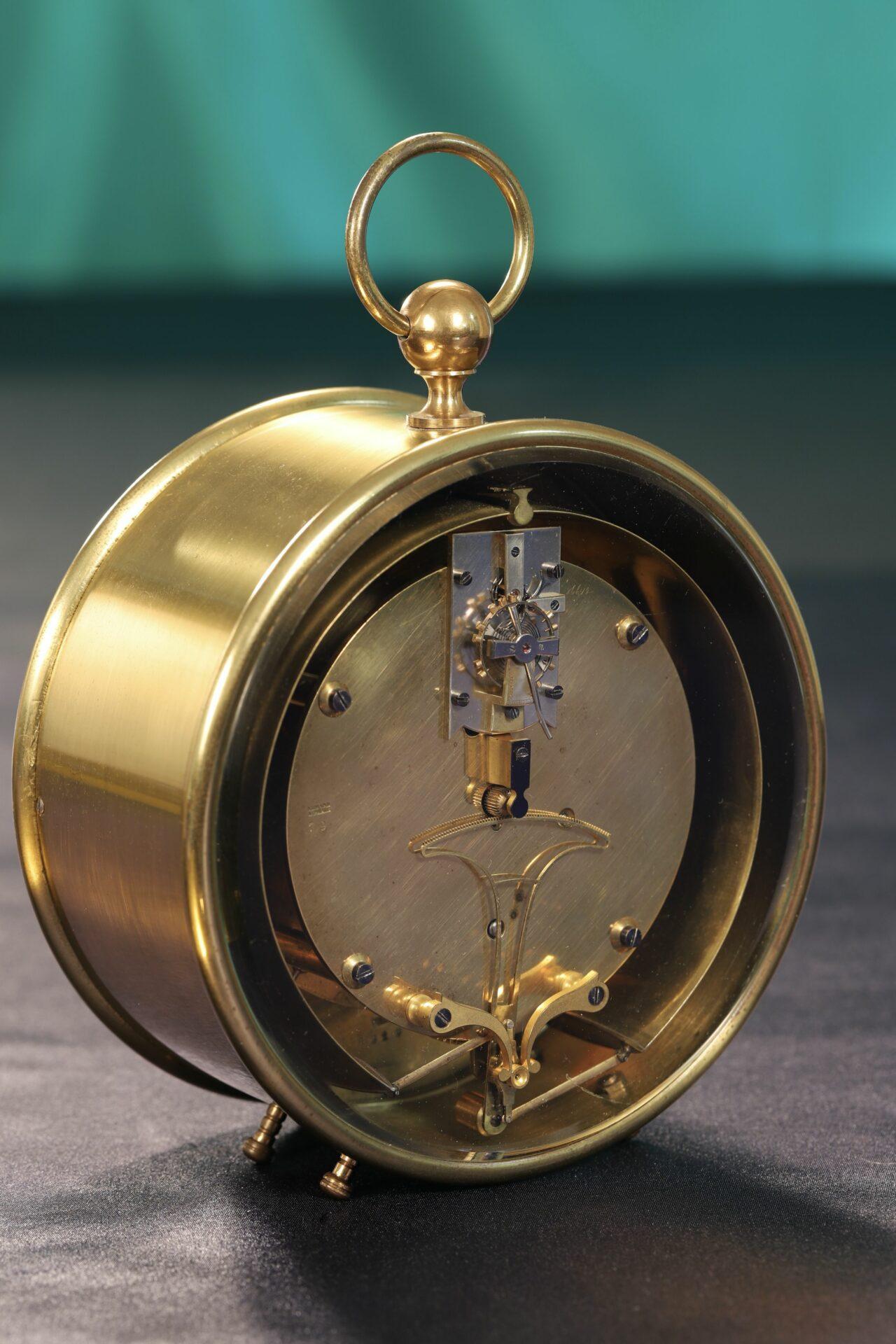 Rear view of Bourdon & Richard Barometer Clock No 79 c1880 taken from lefthand side