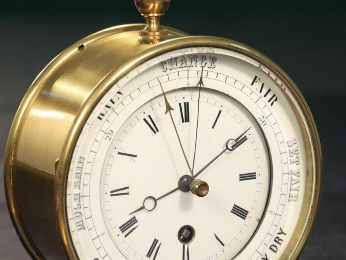 RARE FRENCH BOURDON & RICHARD BAROMETER CLOCK No 79 c1880 - Sold