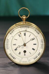 Front view of Bourdon & Richard Barometer Clock No 79 c1880