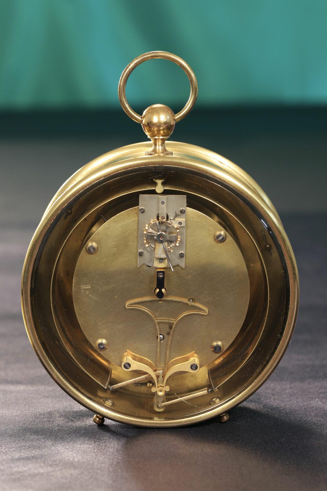 Rear view of Bourdon & Richard Barometer Clock No 79 c1880