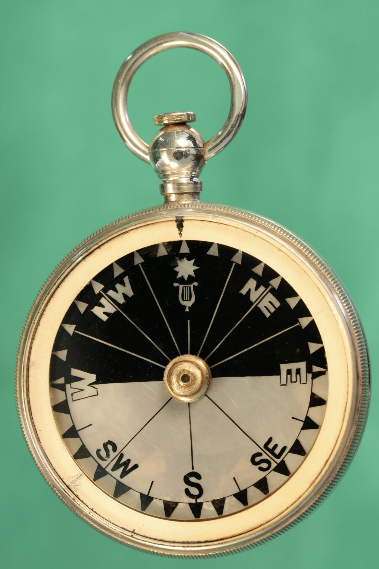 Image of compass from Cairns Silver Pocket Barometer Compendium c1892