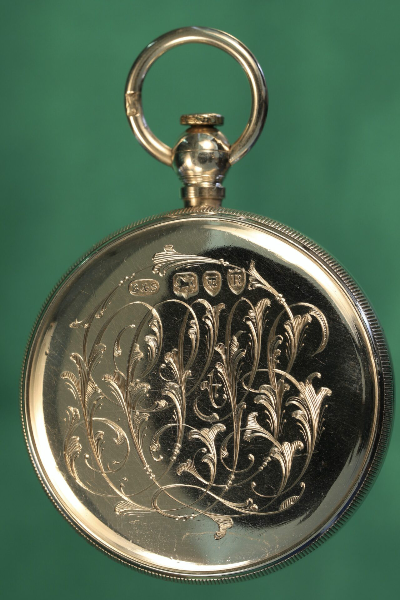Image of reverse of compass from Cairns Silver Pocket Barometer Compendium c1892