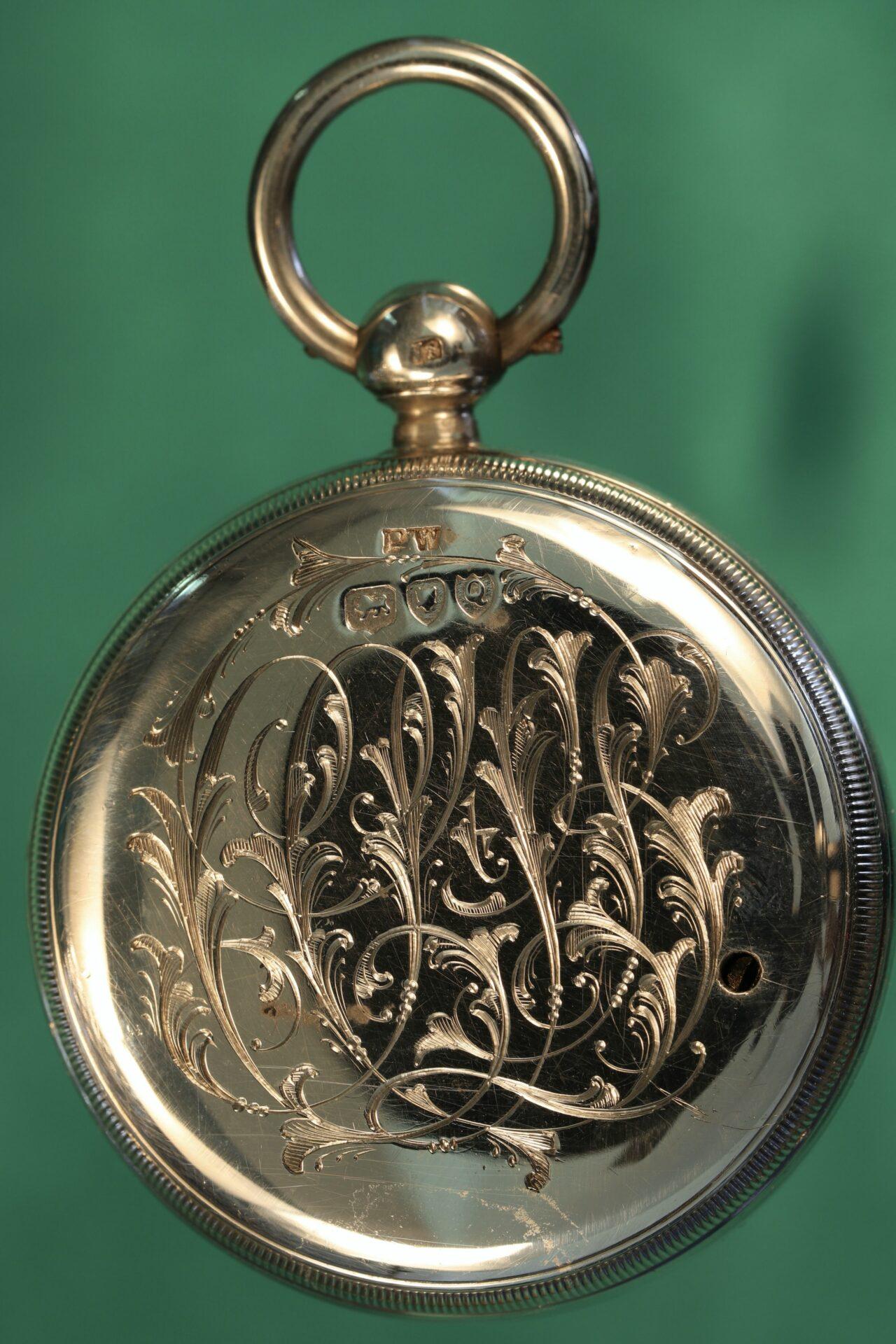 Image of reverse of pocket barometer from Cairns Silver Pocket Barometer Compendium c1892