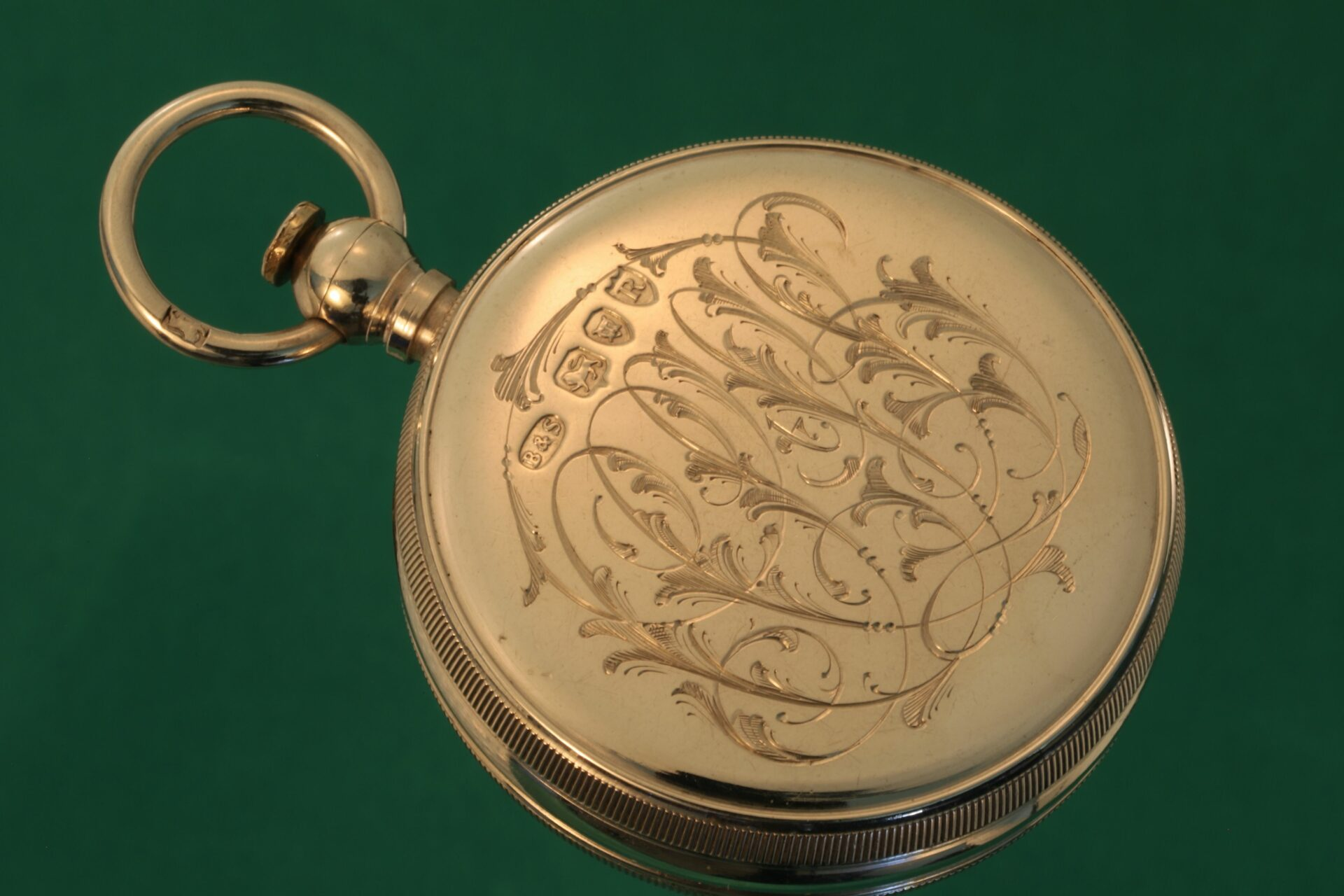 Horizontal image of reverse of compass from Cairns Silver Pocket Barometer Compendium c1892