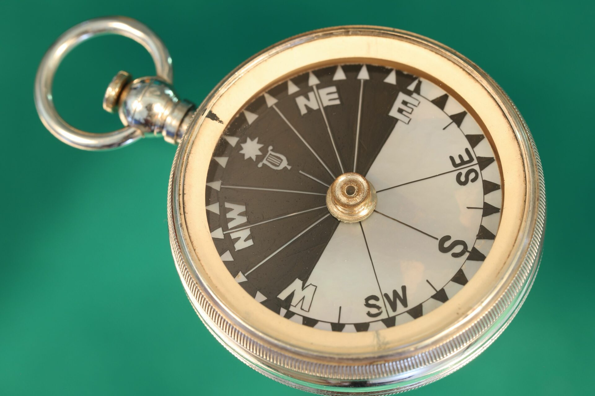 Horizontal image of compass from Cairns Silver Pocket Barometer Compendium c1892