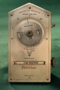 Front of Negretti & Zambra Desk Forecaster c1915