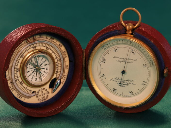 POCKET BAROMETER THERMOMETER COMPASS COMPENDIUM RETAILED BY NEWTON & CO No 1082 c1880