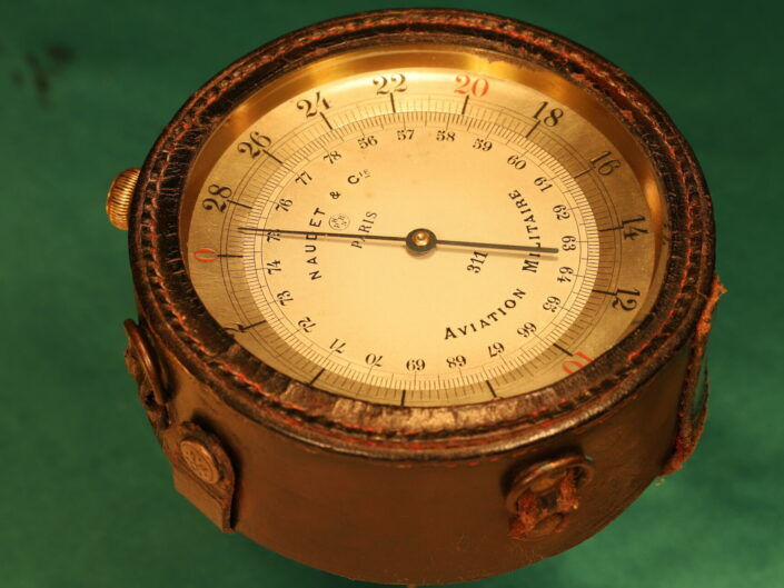 EARLY FRENCH WWI AIRCRAFT ALTIMETER BY NAUDET No 311 c1914