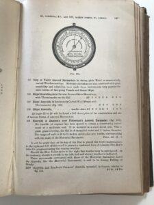 Page from Negretti & Zambra Catalogue c1886 showing Fishermans Aneroid Barometer