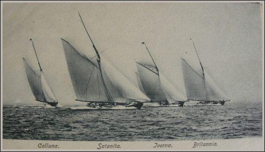 "Image of ""Calluna,"" ""Satanita,"" ""Iverna,"" and ""Britannia"" from ""Yacht Racing in 1893"""