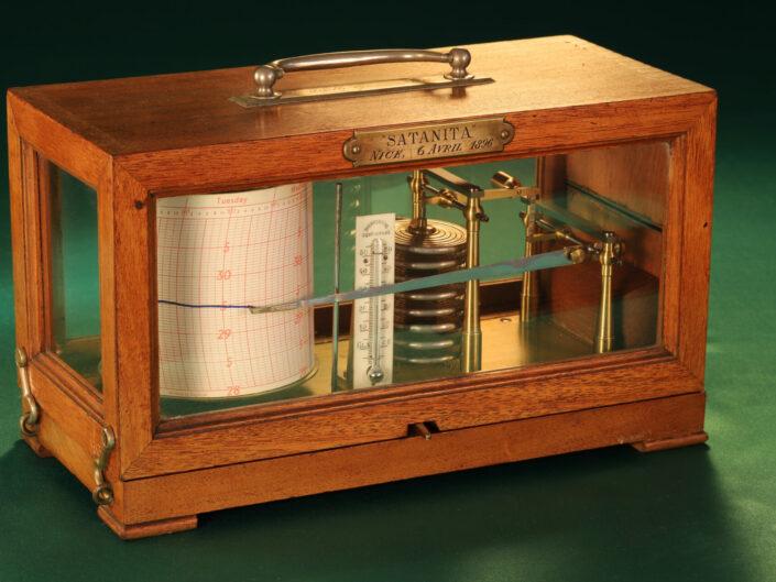 FRENCH DRUM BAROGRAPH RECORDER BY RICHARD FRERES No 19110 AWARDED TO SATANITA IN 1896