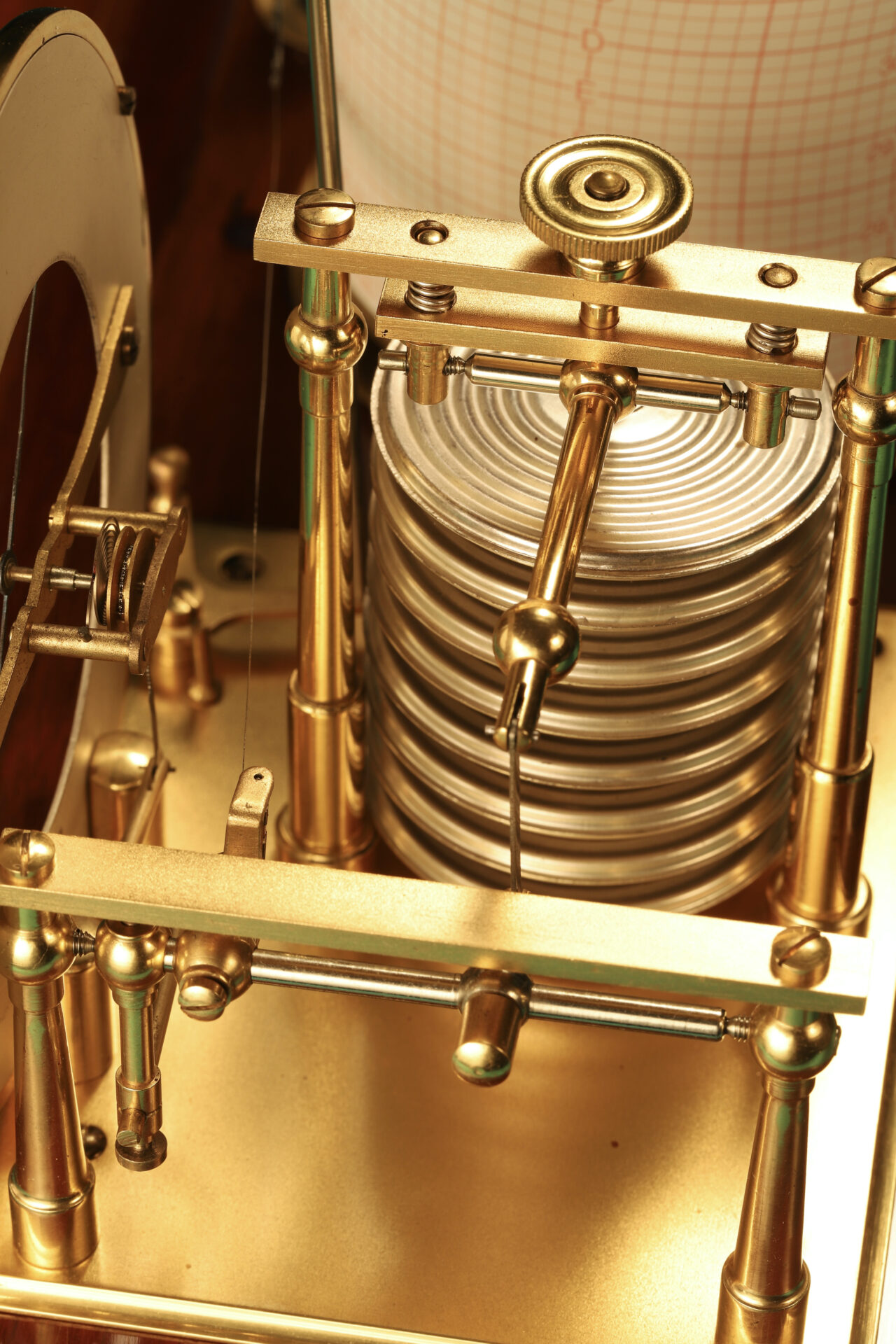 Image of capsule stack from Short & Mason Barograph No L13629 c1930