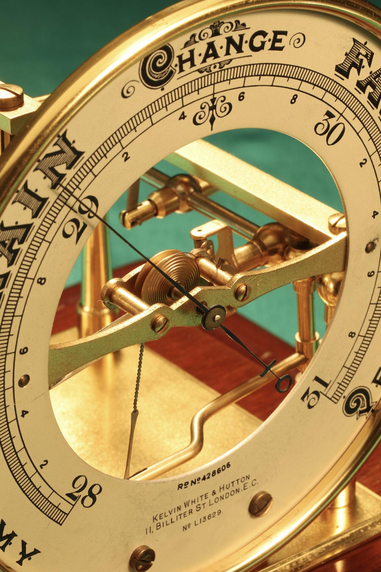 Image of dial from Short & Mason Barograph No L13629 c1930