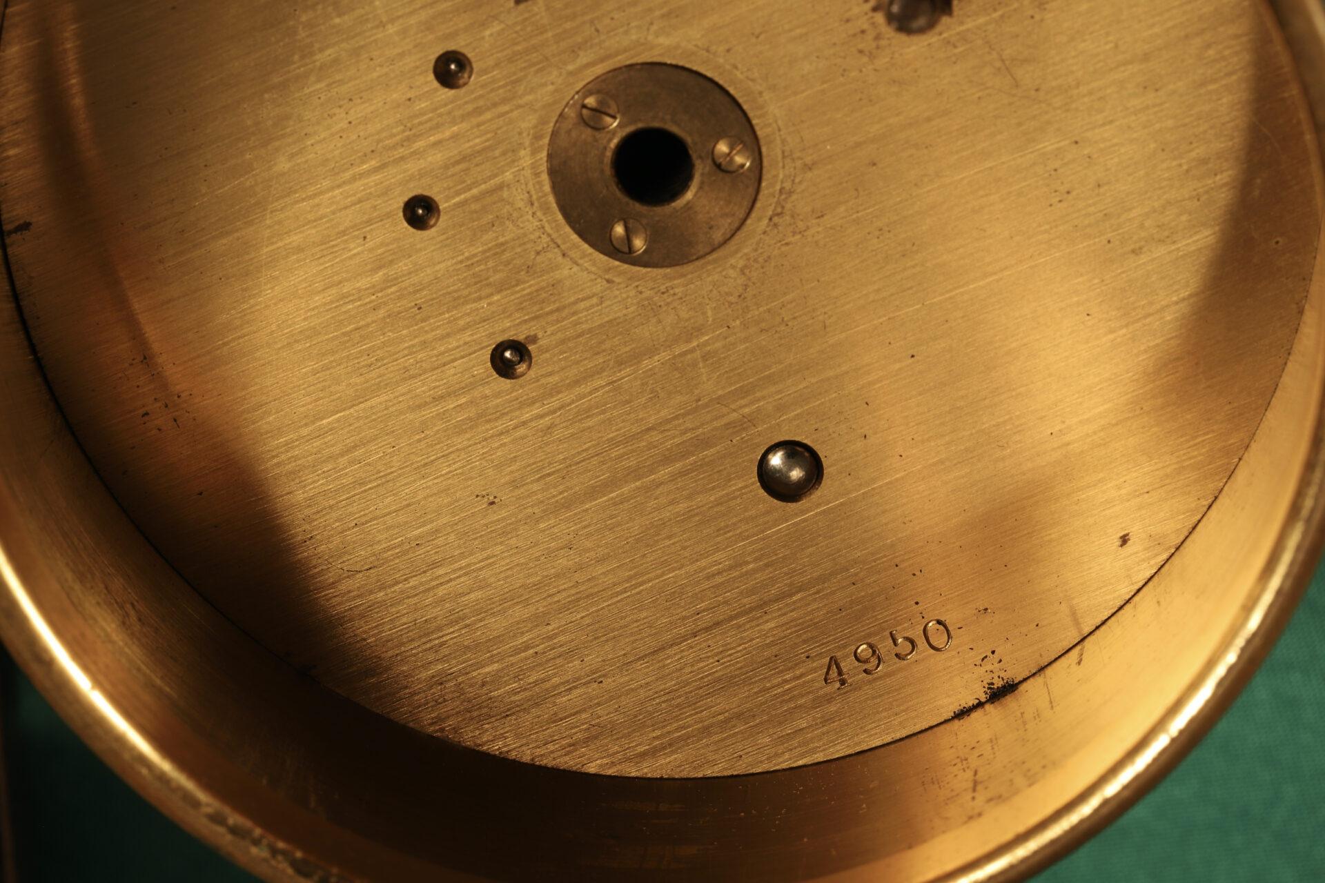 Close up of Short & Mason Barograph No L13629 c1930 showing drum serial number