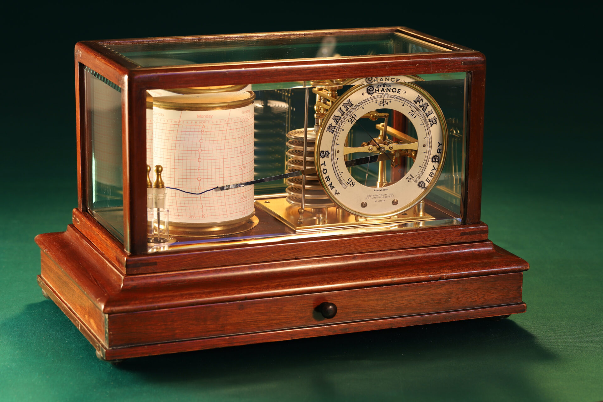 Image of Short & Mason Barograph No L13629 c1930 taken from lefthand side
