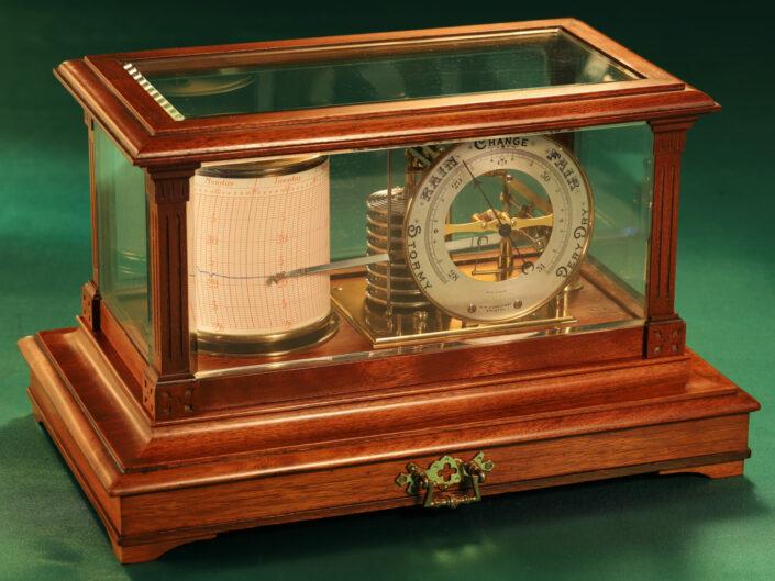 DRUM BAROGRAPH AND BAROMETER BY SHORT & MASON No 3205 c1910 - Sold