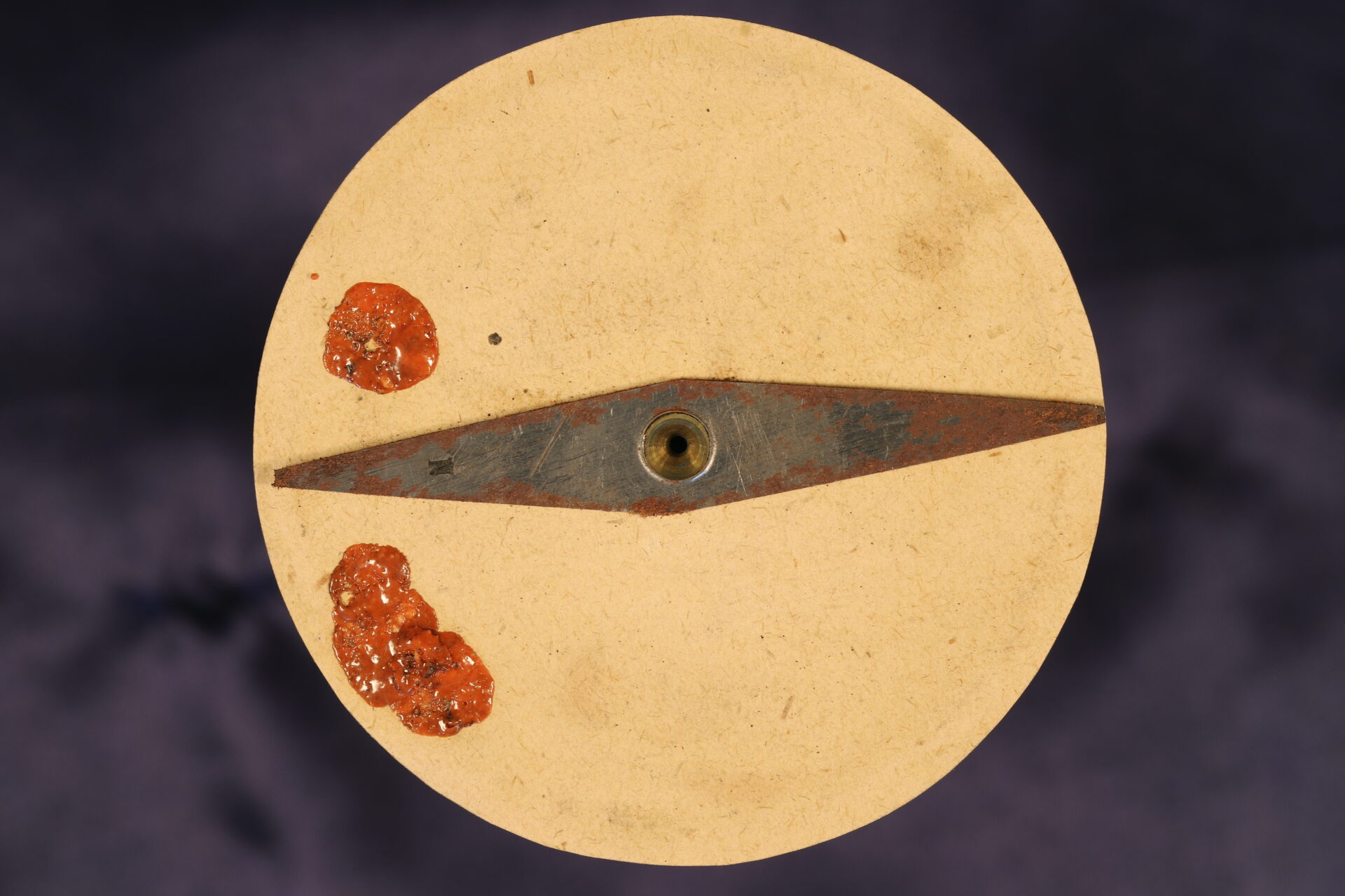 Image of underside of card for Explorers Singers Patent Compass c1870