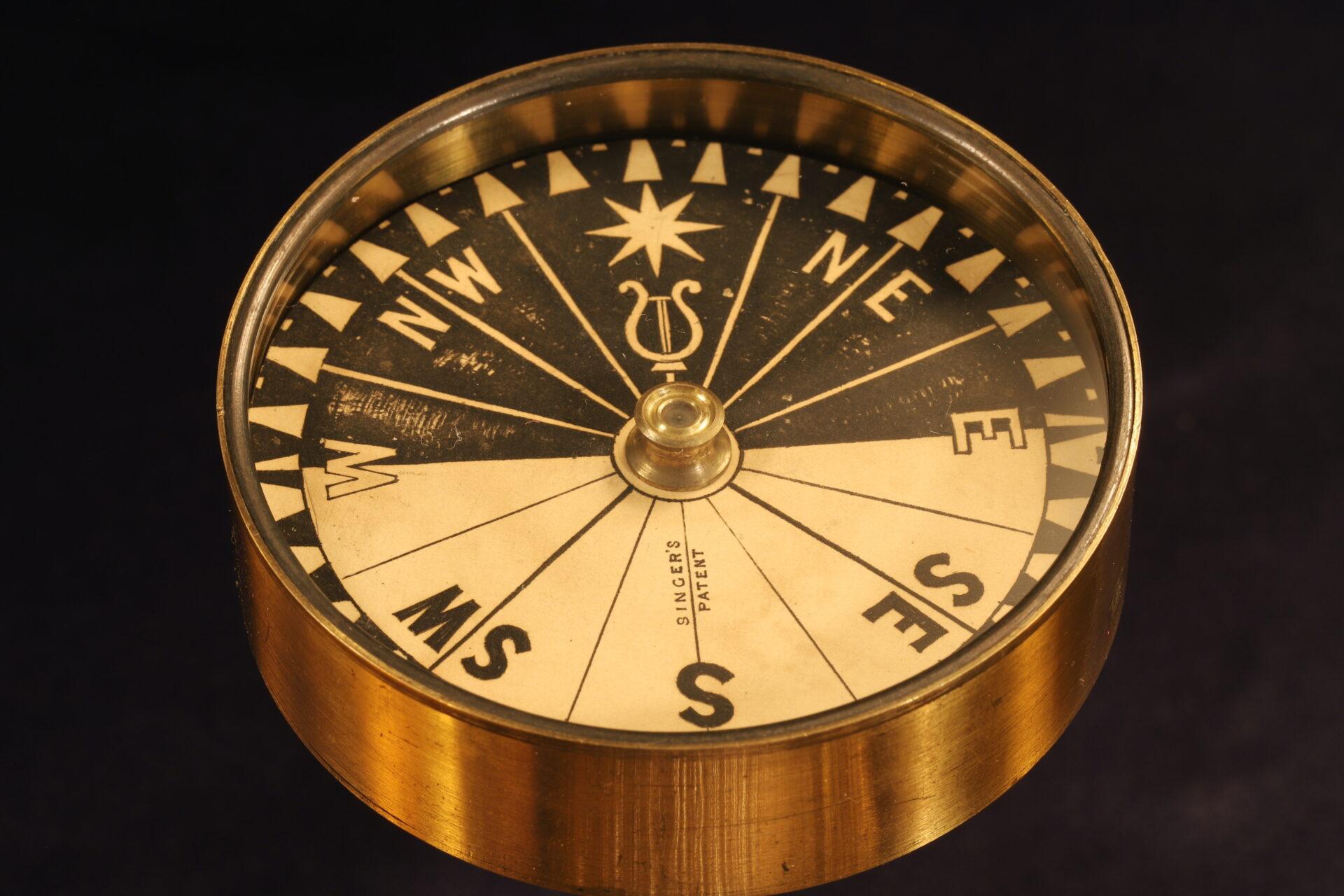 Image of Explorers Singers Patent Compass c1870
