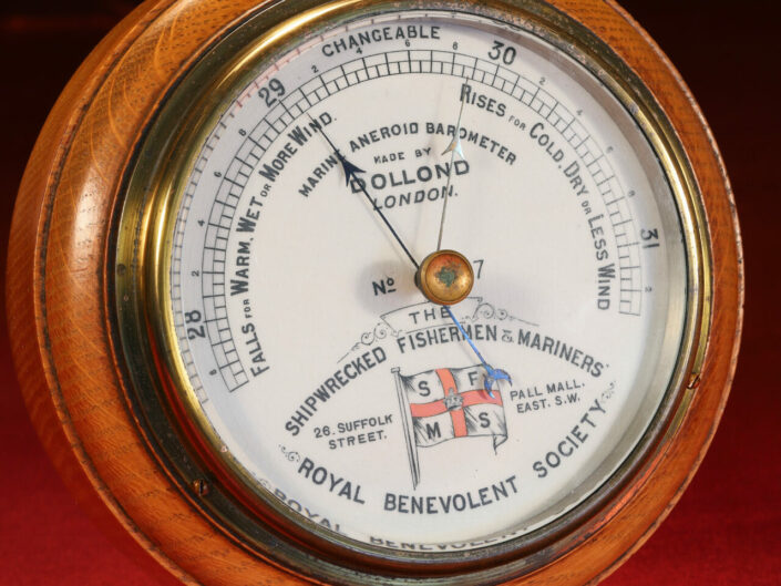 SHIPWRECKED MARINERS SOCIETY MARINE BAROMETER BY DOLLOND No 717 c1895 - Sold