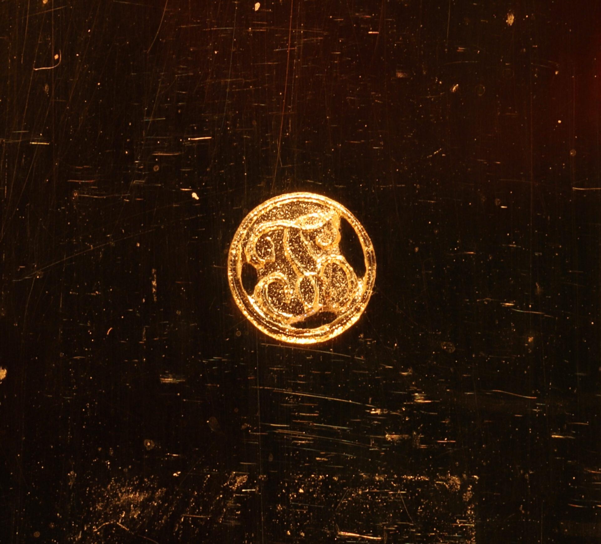 Close up of logogram from Jules Richard Bourdon Barometer No 45028 c1900