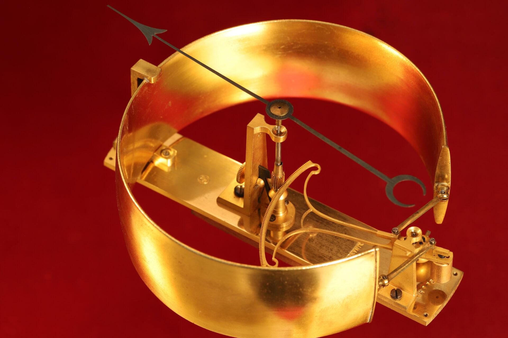 Image of movement of Bourdon Barometer No 15178 c1880