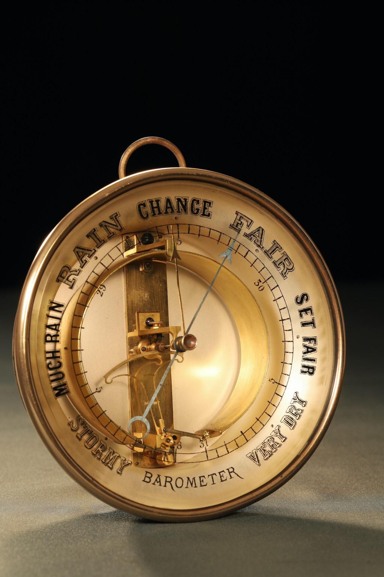 Image of Bourdon Barometer No 15178 c1880 taken from lefthand side