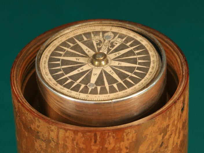 GEORGIAN GIMBALLED TRAVEL COMPASS BY GREGORY & WRIGHT c1785