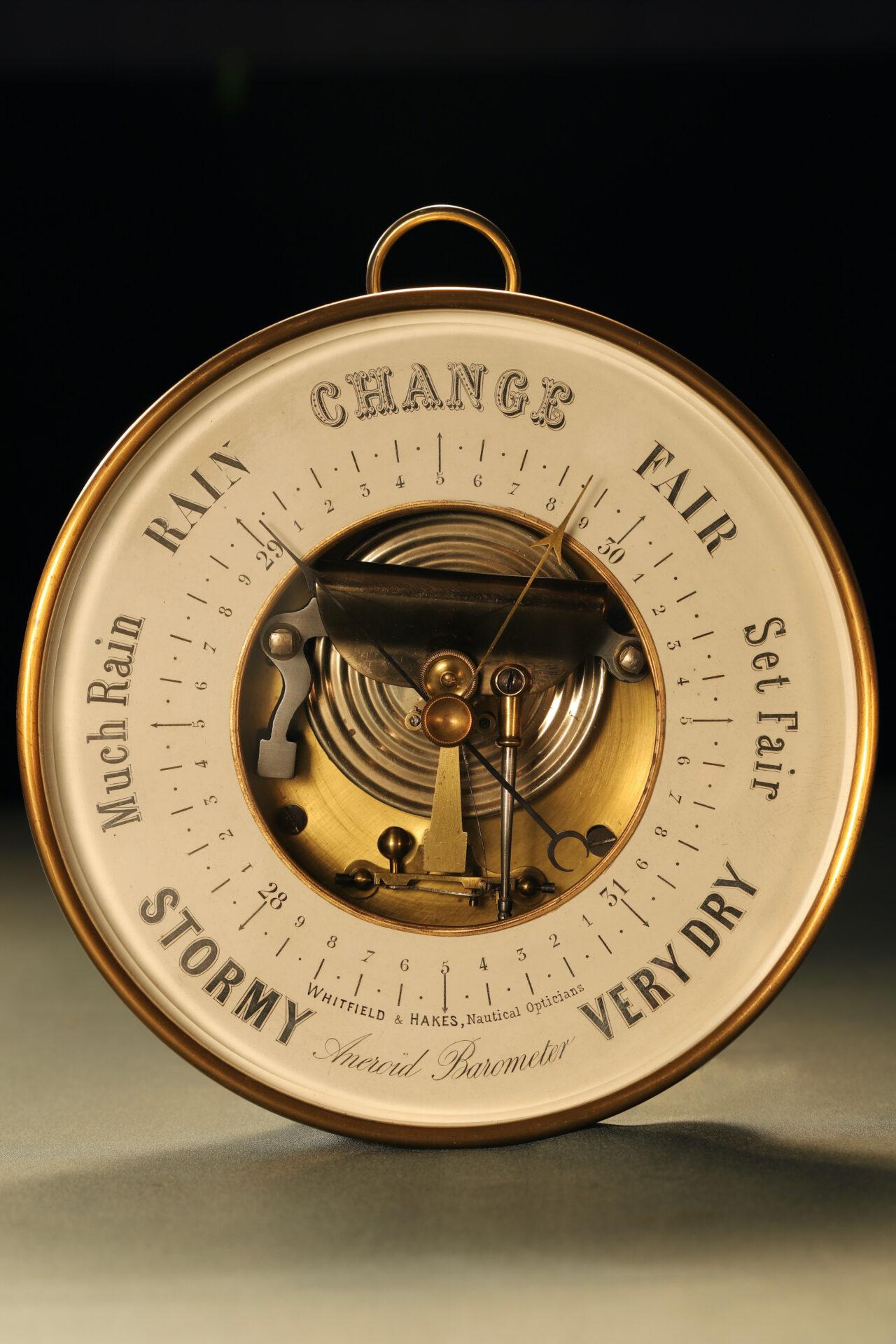 Image of Naudet Open Dial Barometer c1890