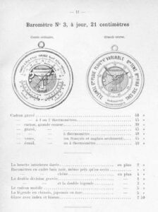 Page from Naudet et Cie Catalogue of 1891