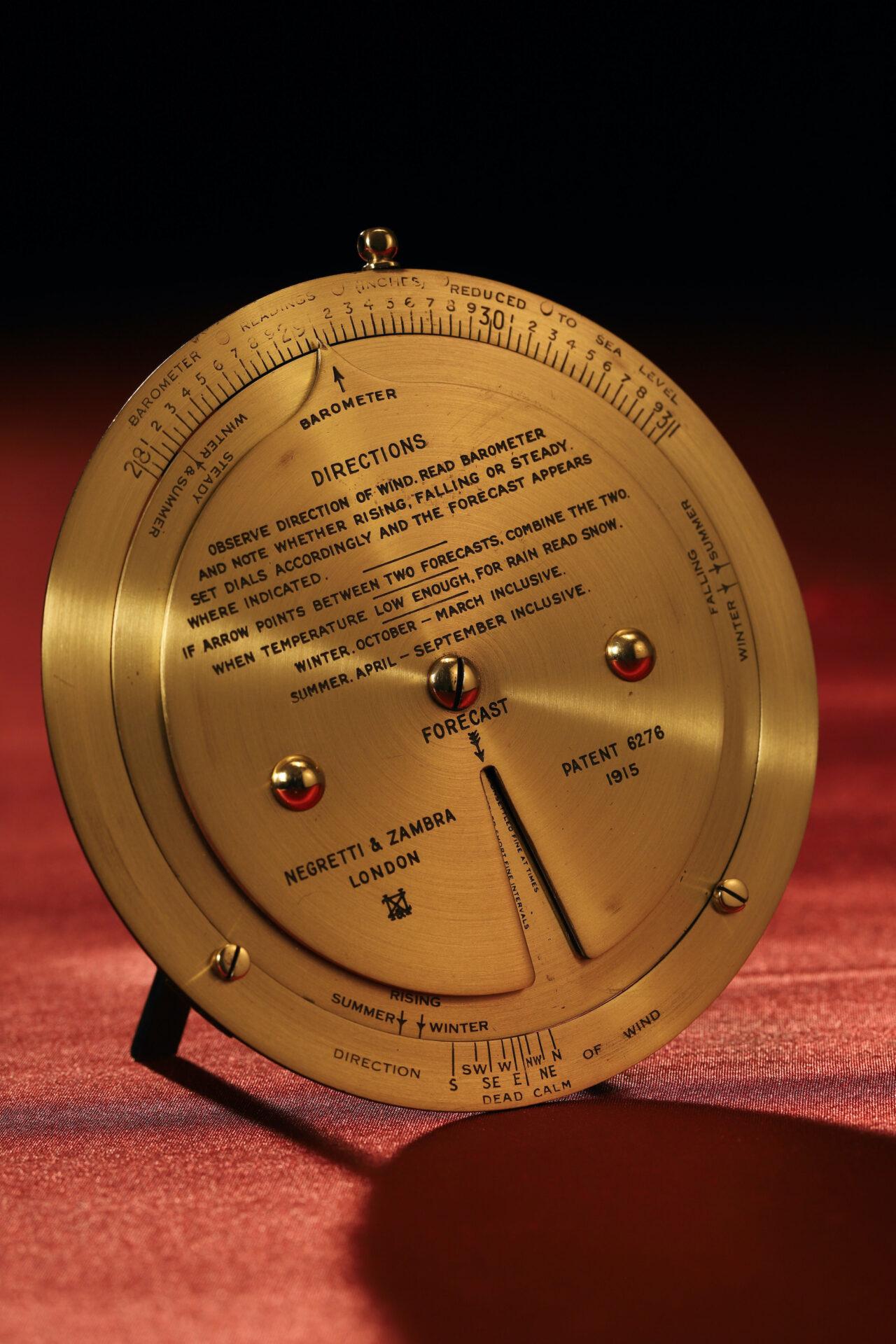 Image of Negretti & Zambra Brass Desk Forecaster