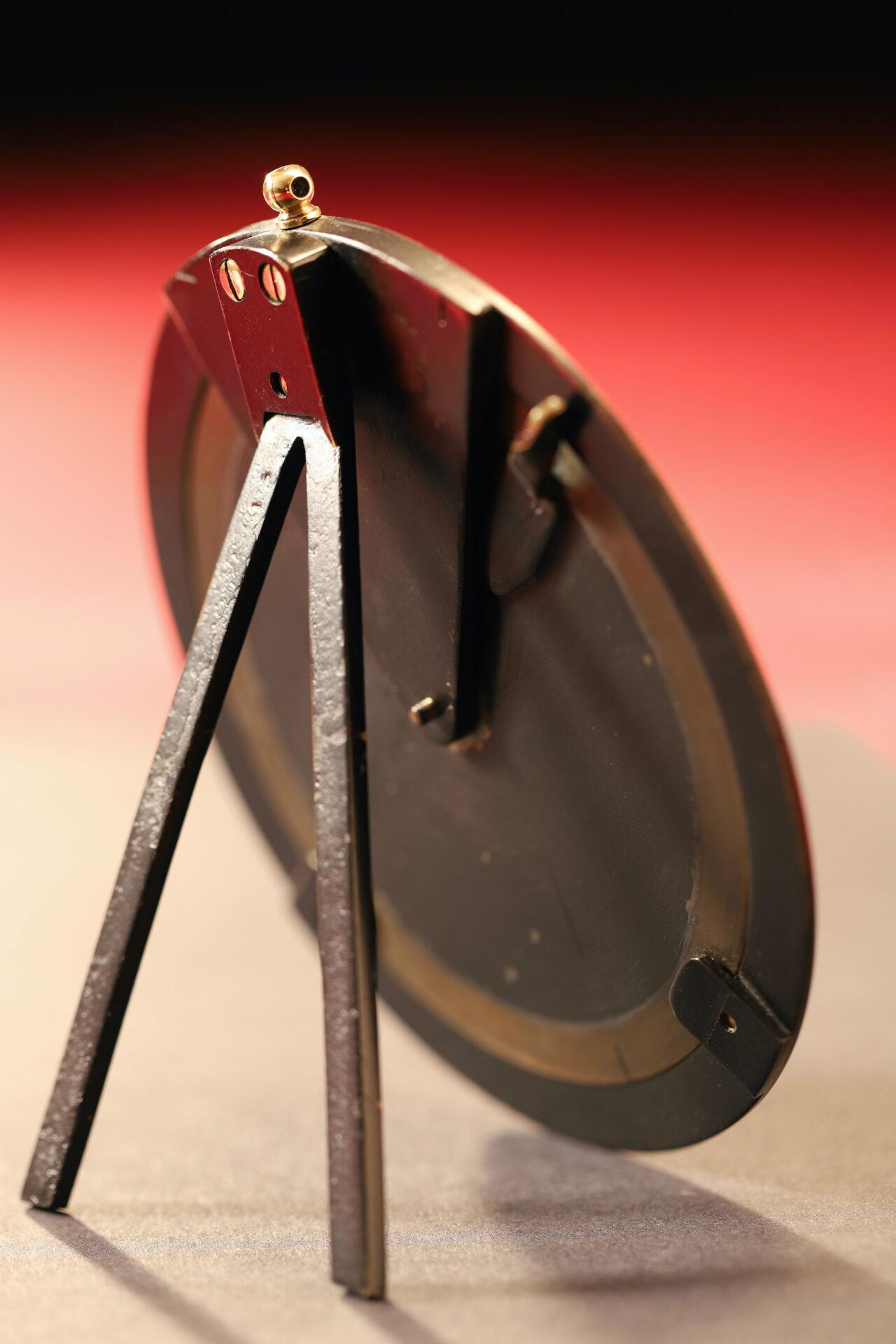 Image of reverse of Negretti & Zambra Brass Desk Forecaster