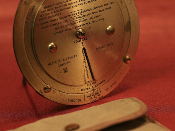 NEGRETTI & ZAMBRA BRASS WEATHER FORECASTER c1925 - Sold