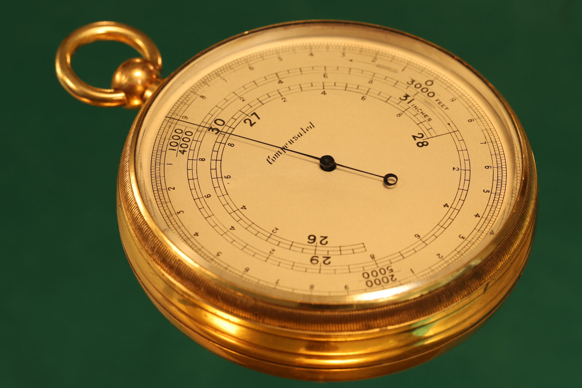 Image of Short & Mason Double Rotation Altimeter c1910 taken from lefthand side