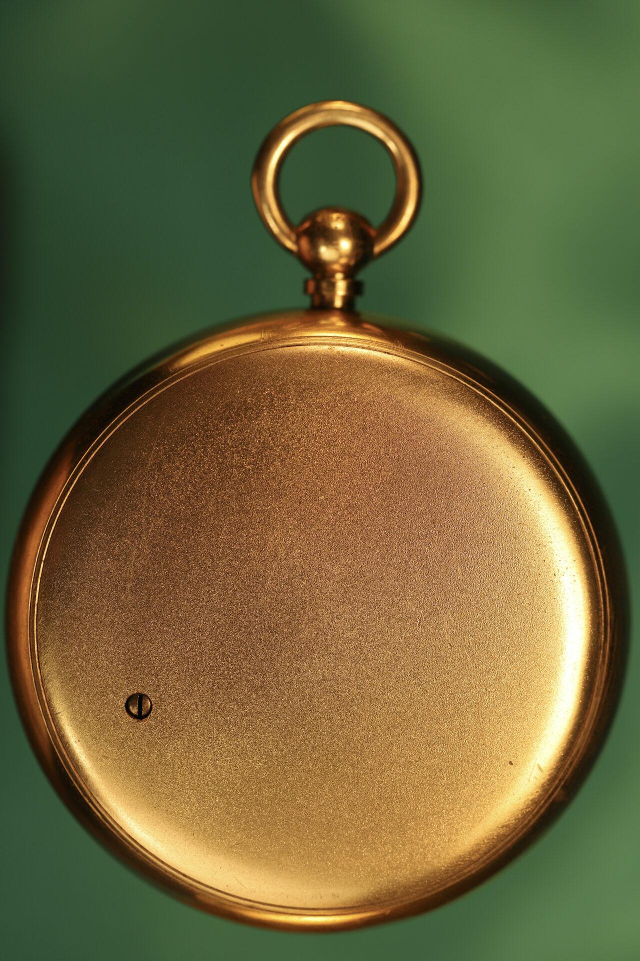 Image of verso of Short & Mason Double Rotation Altimeter c1910